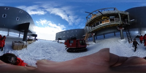 The new station as viewed by the 360 camera.